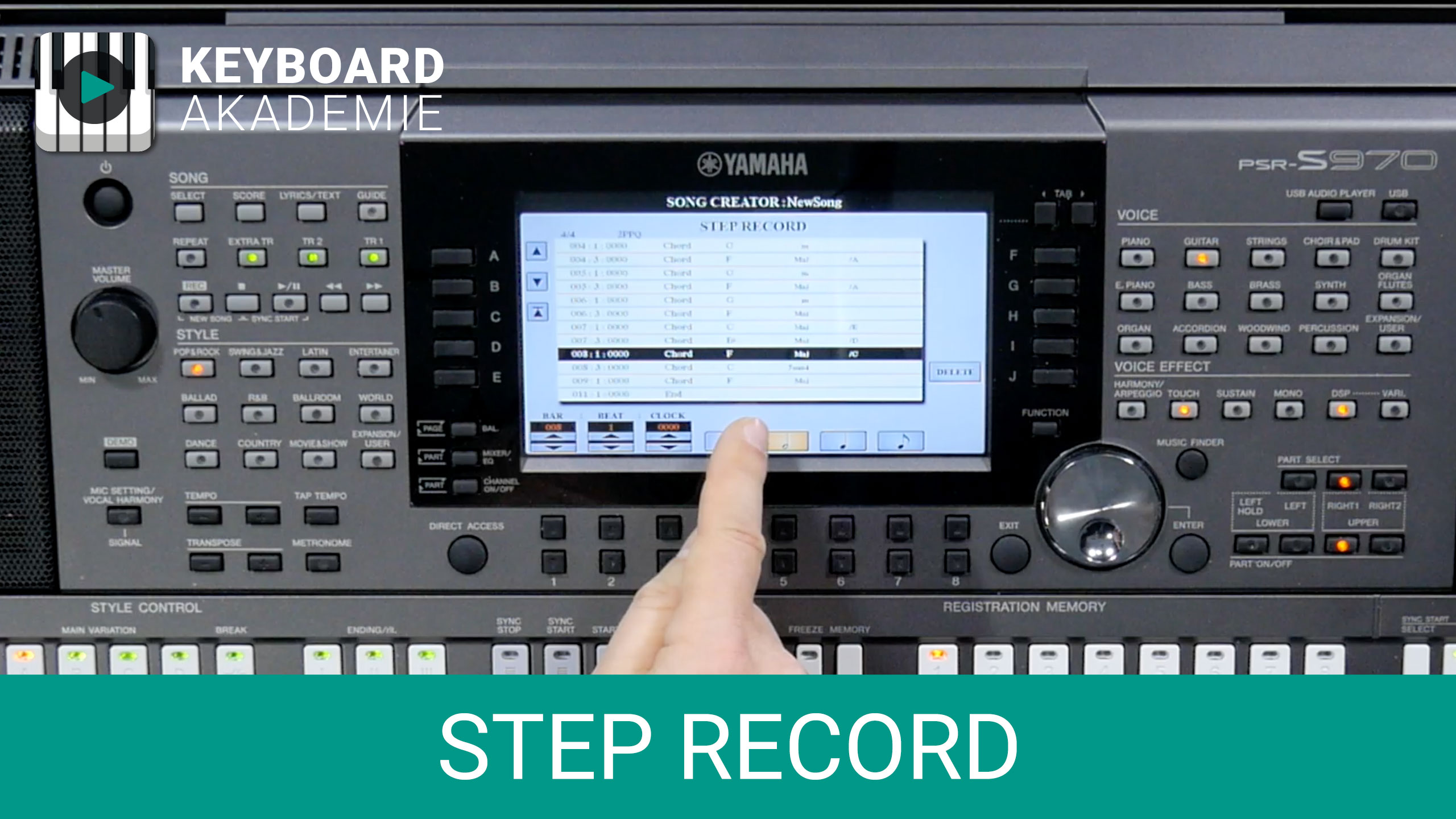 Step Recording | Power-Tipp | PSR-S970